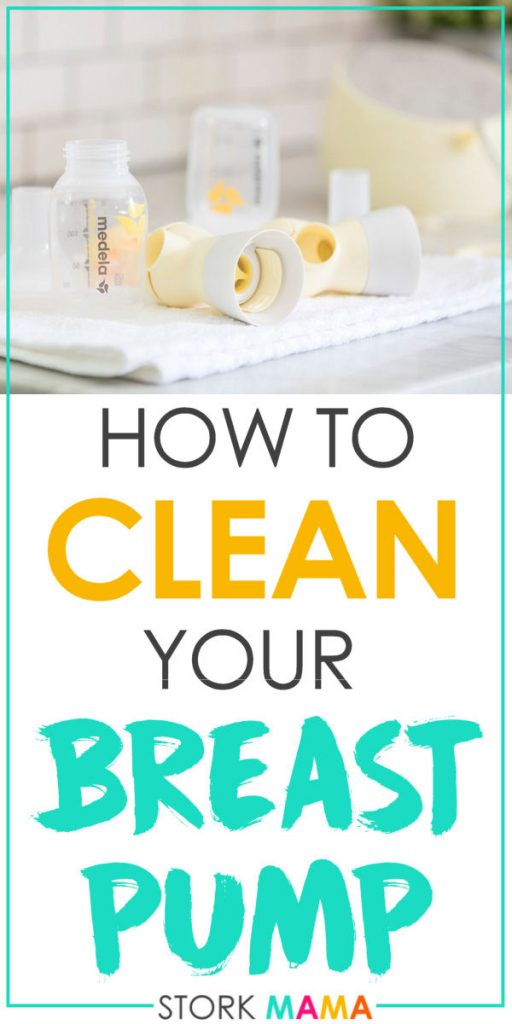How to Clean a Breast Pump | Learn the best way to get rid of milk and germs from your breast pump. Plus tips for cleaning the tubing and sterilizing. My recommendations for pump cleaning products and using second-hand breast pumps.