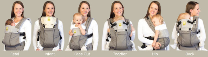 baby carrier postions