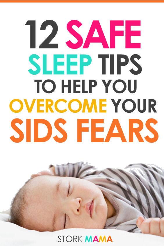 Reduce Your baby's risk of SIDS | Check out these 12 tips to minimize your babies risk of Sudden Infant death syndrome. Safe sleep tips for new moms. Stork Mama